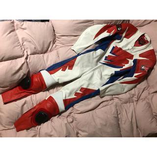 ★美品★QUAK'ER 革ツナギ レーシングスーツ(M)バイクウェア(ライダースジャケット)