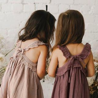 コドモビームス(こどもビームス)のJamie Kay Lola dress bloom 1y 新品未使用タグ付き(ワンピース)