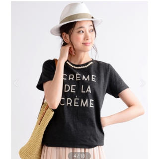 ルクールブラン(le.coeur blanc)のルクールブラン  パール付Tシャツ(Tシャツ(半袖/袖なし))