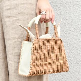 シップスフォーウィメン(SHIPS for women)の※専用※ 完売品 BAGMATI バスケットS ホワイト(かごバッグ/ストローバッグ)
