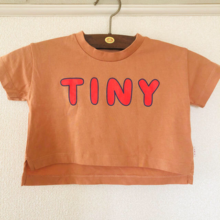 キャラメルベビー&チャイルド(Caramel baby&child )のtinycottons crop Tシャツ2020ss 2y(Tシャツ/カットソー)