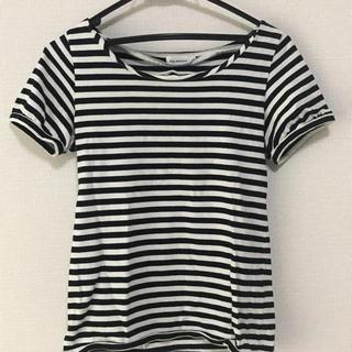 アナトリエ(anatelier)の半袖 Tシャツ ボーダー クロ リボンモチーフ(Tシャツ/カットソー)