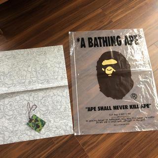 アベイシングエイプ(A BATHING APE)のエイプ  ジップ付き袋(ノベルティグッズ)