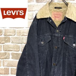 Levi's - 【リーバイス】肉厚 ボアインナーコーデュロイジャケット ブラック ビッグサイズ
