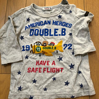 ダブルビー(DOUBLE.B)のミキハウス ダブルビー ロンT 80cm(Tシャツ)
