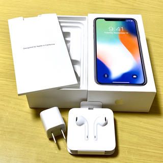 アップル(Apple)のiphoneX イヤホン アダプタ 箱セット(ヘッドフォン/イヤフォン)