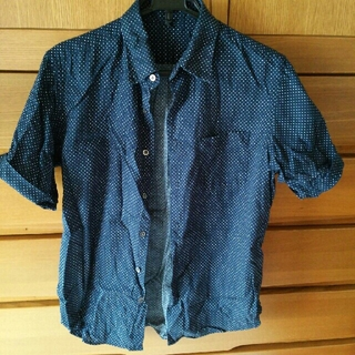 ムジルシリョウヒン(MUJI (無印良品))の中古 紺色半袖シャツ M  1枚(その他)