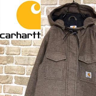 カーハート(carhartt)の【カーハート】希少モデル ウール混合 ジップショートコート フード ワンポイント(ブルゾン)