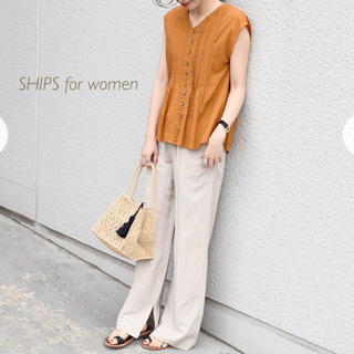 シップスフォーウィメン(SHIPS for women)のSHIPS リネンピンタックイージーパンツ(カジュアルパンツ)