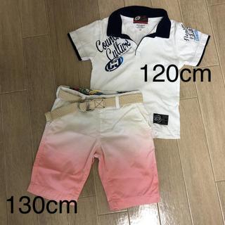カウンターカルチャー(Counter Culture)の半袖 Tシャツ ハーフパンツ 半ズボン 短パン セット売り 120 130(その他)