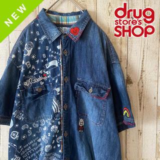 ドラッグストアーズ(drug store's)の美品 DRUG STORE'S / デニムシャツ 刺繍 FREE SIZE(シャツ)