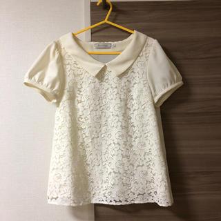 クチュールブローチ(Couture Brooch)のクチュールブローチ♥襟付きレースブラウス(シャツ/ブラウス(半袖/袖なし))