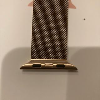 アップルウォッチ(Apple Watch)のApple Watch用 ゴールド ミラネーゼベルト(腕時計(デジタル))