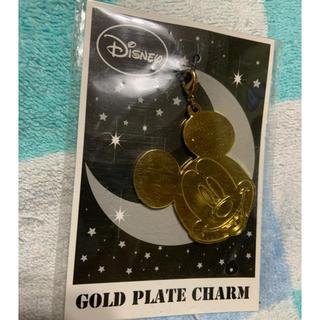 ディズニー(Disney)のミッキー GOLD PLATE CHARM(チャーム)