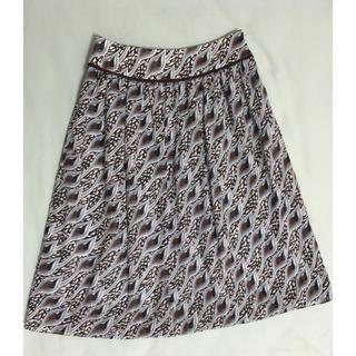 エミスフィール(HEMISPHERE)のエミスフィール/ hemispheres paris 柄スカート(ひざ丈スカート)