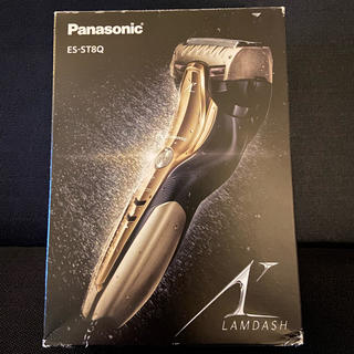 パナソニック(Panasonic)のパナソニック メンズシェーバー 3枚刃 ゴールド調 ES-ST8Q(メンズシェーバー)