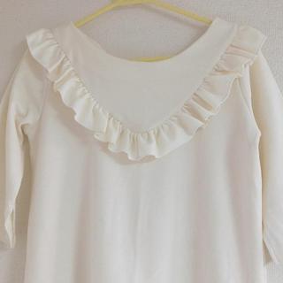 アンクルージュ(Ank Rouge)のフリル ロングシャツ(Tシャツ(半袖/袖なし))