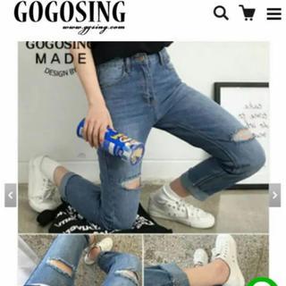 ゴゴシング(GOGOSING)のダメージ デニム XL(デニム/ジーンズ)