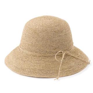ムジルシリョウヒン(MUJI (無印良品))のtomo4931様 無印良品 ラフィア つばひろ帽子(麦わら帽子/ストローハット)
