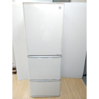 シャープ(SHARP)の冷蔵庫 シャープ どっちもドア ホワイト プラズマクラスター LED 両開き(冷蔵庫)