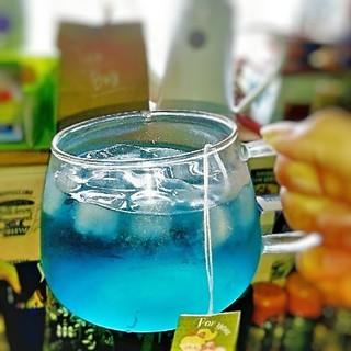 10パック オーガニックバタフライピーティーバッグ 青い紅茶(茶)