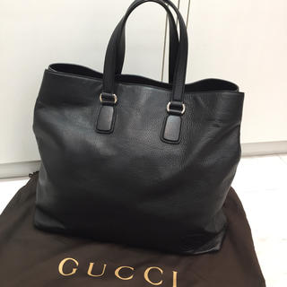 グッチ(Gucci)の☆未使用品☆GUCCI レザートートバッグ ソーホー インターロッキングG 黒(トートバッグ)