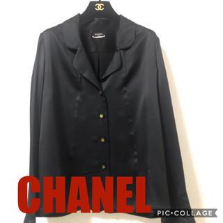 シャネル(CHANEL)のシャネル シルクパジャマシャツ 黒 正規品(シャツ/ブラウス(長袖/七分))