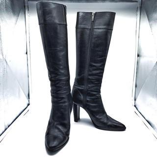 ダイアナ(DIANA)のDIANA ダイアナ  ロングブーツ ポインテッドトゥ 黒 ブラック(ブーツ)
