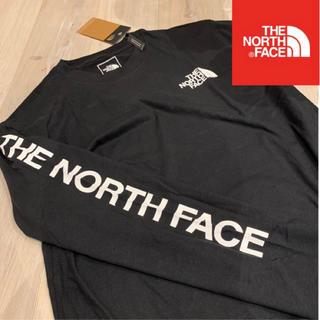THE NORTH FACE - XL 黒 海外限定 THE NORTH FACE 袖ロゴ ロンT ノースフェイス