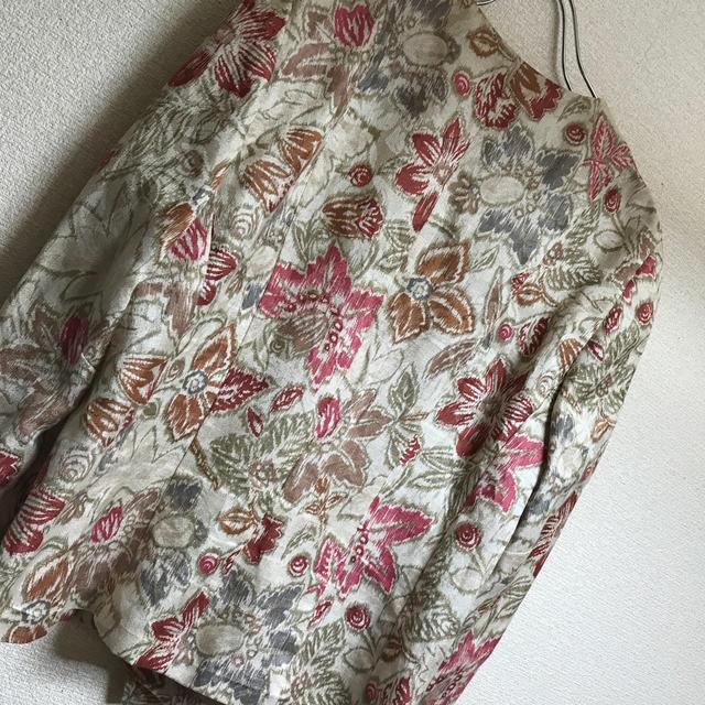 Plage(プラージュ)のマリヨン⭐︎綿麻デザインジャケット⭐︎お値下げ レディースのジャケット/アウター(ノーカラージャケット)の商品写真