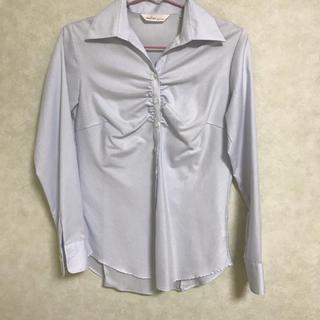 アオヤマ(青山)のワイシャツ 青(シャツ/ブラウス(長袖/七分))