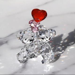 スワロフスキー(SWAROVSKI)のスワロフスキー クリスベア ハートバルーン クリスタル(ガラス)