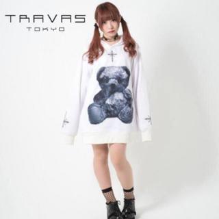 ミルクボーイ(MILKBOY)のTRAVAS TOKYO 初期 くま パーカー ホワイト   トラバストーキョー(パーカー)