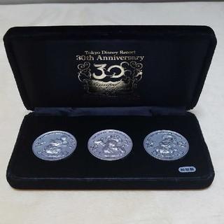 ディズニー(Disney)の【世界に300個】ディズニーランド30周年記念・純銀製メダルセット(貨幣)