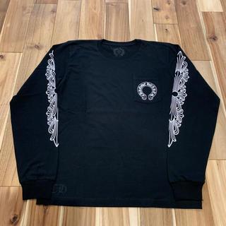 クロムハーツ(Chrome Hearts)のレア クロムハーツ ホースシュー ロングスリーブ Tシャツ ブラック サイズL(Tシャツ/カットソー(七分/長袖))