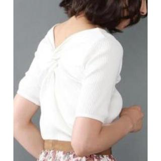 アナイ(ANAYI)の🌼ANAYI 2018SS 新品未使用バッグリボンクロス🎀カットソー🍀(Tシャツ(半袖/袖なし))