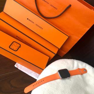 アップルウォッチ(Apple Watch)のHERMES エルメス◆AppleWatch アップウォッチ◆44mm◆オレンジ(腕時計(デジタル))