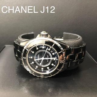 シャネル(CHANEL)のシャネル J12  メンズ 38mm 12Pダイヤ 腕時計(腕時計(アナログ))