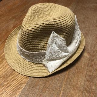 ジーユー(GU)の52cm☆GU女の子麦わら帽子ストローハット(帽子)