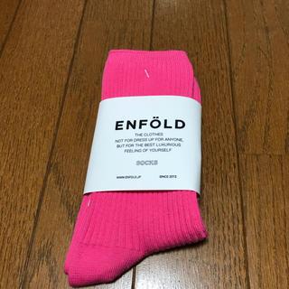 エンフォルド(ENFOLD)のエンフォルド   2020ss  靴下 ピンク(ソックス)