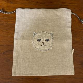 アッシュペーフランス(H.P.FRANCE)のコーラルアンドタスク 巾着 Baby Cat(ポーチ)