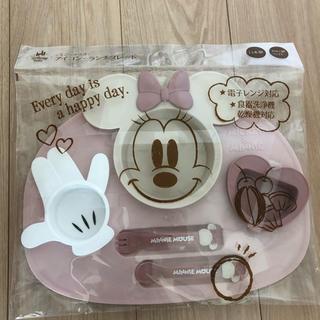 ディズニー(Disney)のミニー マウス アイコン・ランチプレート 離乳食 食器(離乳食器セット)