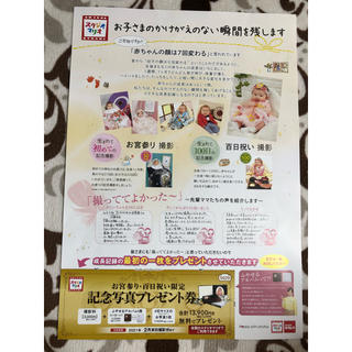 キタムラ(Kitamura)のスタジオマリオ 記念写真プレゼント券(お宮参り用品)