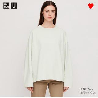 ユニクロ(UNIQLO)のユニクロ スウェットボクシークルーネックシャツ L(トレーナー/スウェット)