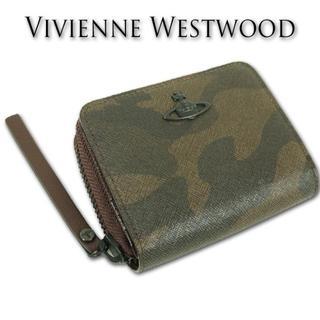 新品箱付■ヴィヴィアンウエストウッド■PVC/牛革 二つ折り財布 アーミープラチ(折り財布)