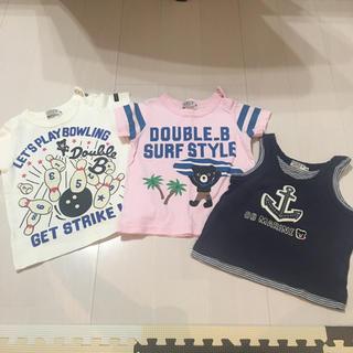ダブルビー(DOUBLE.B)のミキハウス ダブルB トップス Tシャツ 3点セット 80 (Tシャツ)
