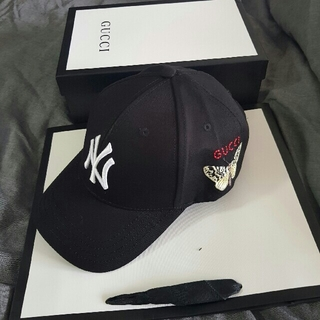 グッチ(Gucci)のニューヨーク ヤンキース  ベースボールキャップ(キャップ)