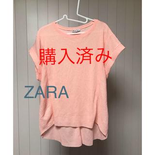 ザラ(ZARA)の【ZARA】シワにならないサーモンピンクシャツ(シャツ/ブラウス(半袖/袖なし))
