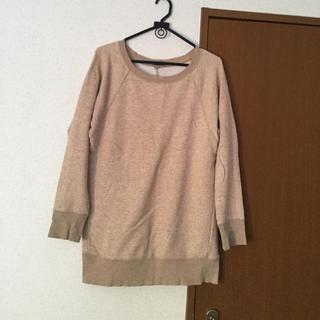 ユニクロ(UNIQLO)のユニクロ コットン ロング Tシャツ M(トレーナー/スウェット)