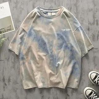 【ラスト1】トレンド タイダイ OFF DAY  Tシャツ ビックシルエット(Tシャツ/カットソー(半袖/袖なし))